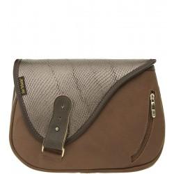Dámská kožená kabelka SŁOŃ TORBALSKI - mouse vzor 67 - hnědá
