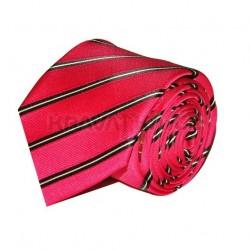 Kravata ANGELO di MONTI (červená proužky) ADM-06