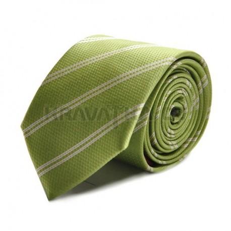 Kravata ANGELO di MONTI (zelená s proužkem) ADM-08