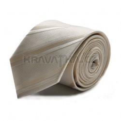 Béžová kravata ANGELO di MONTI