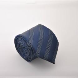 Modrá kravata s proužky ANGELO di MONTI