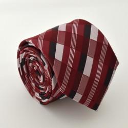 Vínová kravata s proužky ANGELO di MONTI
