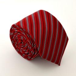 Červená kravata s proužky 2 ANGELO di MONTI