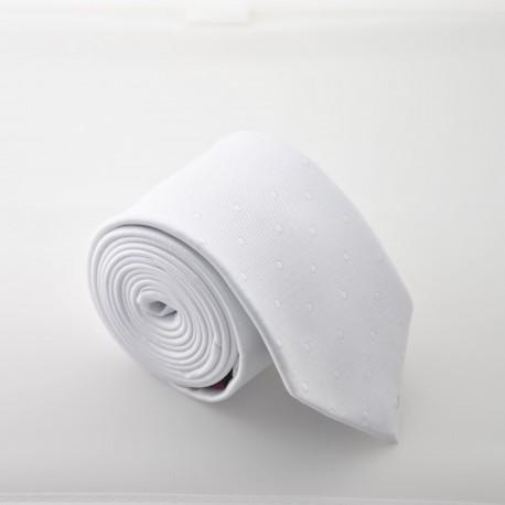 Bílá kravata ANGELO di MONTI