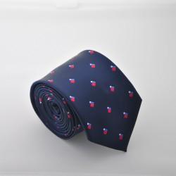 Modrá kravata s kostičkama 2 ANGELO di MONTI