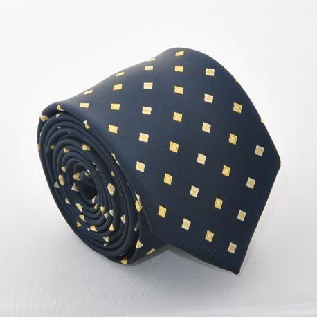 Modrá kravata s kostičkama 3 ANGELO di MONTI