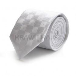 Bílá kravata 1 ANGELO di MONTI