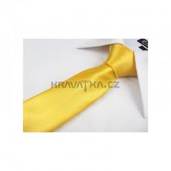 Žlutá kravata - lesklá