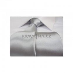 Stříbrná kravata - lesklá
