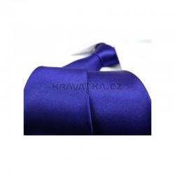 Modrá kravata - lesklá