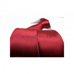 Vínová kravata - lesklá