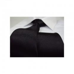 Černá kravata - lesklá