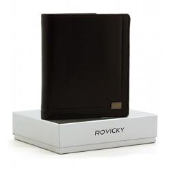 Kožená peněženka ROVICKY - černá
