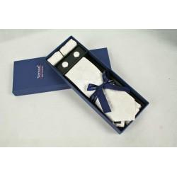 Bílá kravata v dárkovém balení Vernon