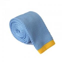Pletená kravata MARROM - světle modrá