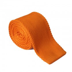 Pletená kravata MARROM - oranžová