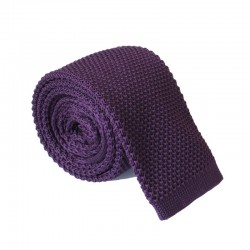 Pletená kravata MARROM - fialová
