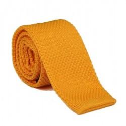 Pletená kravata MARROM - žluto/zlatá
