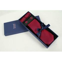 Vínová kravata v dárkovém balení Vernon
