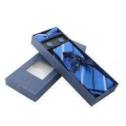 Tmavě modrá kravata v dárkovém balení Vernon