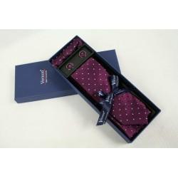 Fialová kravata v dárkovém balení Vernon (2)