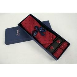 Vínová kravata v dárkovém balení Vernon (2)