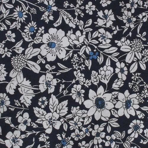 Kapesníček tmavě-modrý s kytičkami I
