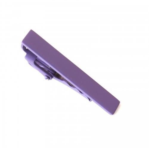 Spona na kravatu - tmavě fialová