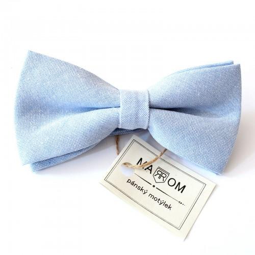 Pánský motýlek MARROM - světle modrý II
