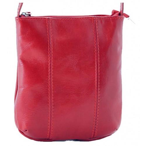Dámská kožená kabelka Vera Pelle - hnědá
