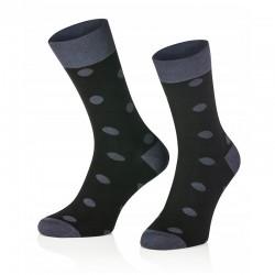 Pánské ponožky MARROM - černé s puntíky 41/43