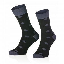 Pánské ponožky MARROM - černé s puntíky 44/46