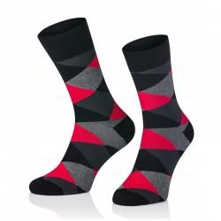 Pánské ponožky MARROM - tmavě červené káro 41/43