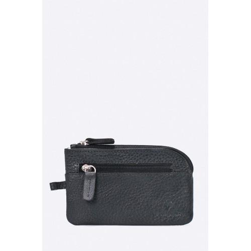 Kožená peněženka - etue - černá