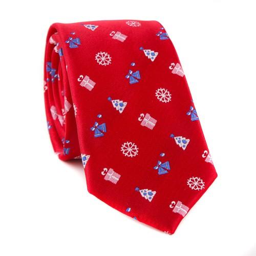 Vánoční kravata MARROM - červená 01