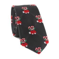 Vianočná kravata MARROM - černá 02