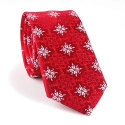 Vánoční kravata MARROM - červená 04
