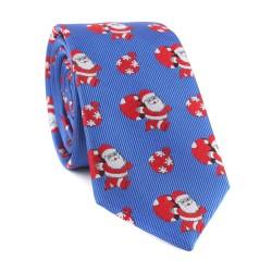 Vánoční kravata MARROM - modrá 05