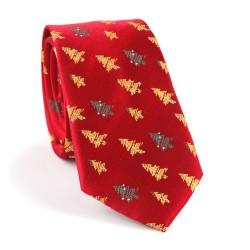 Vianočná kravata MARROM - červená 06