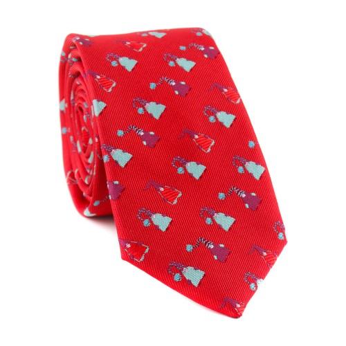 Vánoční kravata MARROM - červená 07