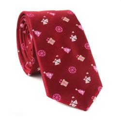 Vianočná kravata MARROM - vínová 09