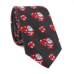 Vianočná kravata MARROM - čierna 11