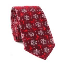 Vianočná kravata MARROM - vínová 15
