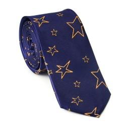 Crazy kravata - modrá s hvězdičkami