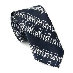 Crazy kravata - čierna s notami