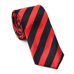 Crazy kravata - červeno čierne prúžky