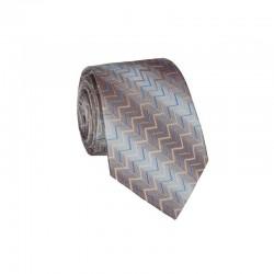 Hedvábná kravata MARROM - béžově hnědá