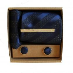Modrá kravata v darčekovom balení MARROM