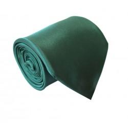 Tmavo zelená kravata - lesklá