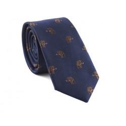 Modrá kravata MARROM - sloni